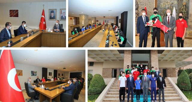 Şehitkamilli Sporcular Gaziantep Valisi Gül'ü Ziyaret Etti